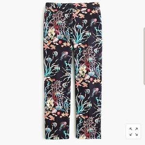 "J.Crew cotton Patio Pant ""Under the Sea"" Sz 0"